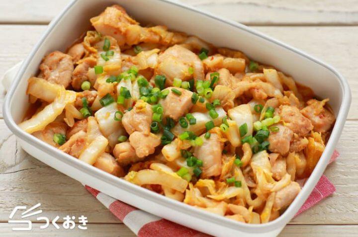 美味しいおかず♪鶏肉と白菜のピリ辛炒め