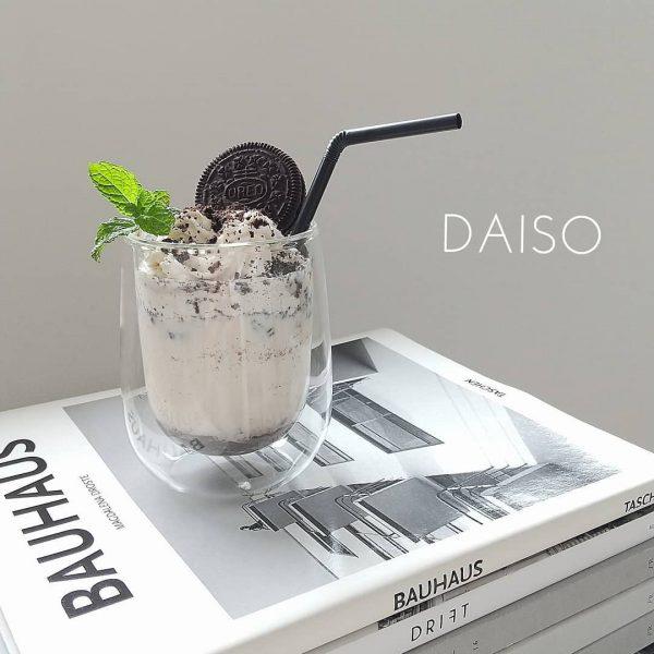 【ダイソー】使い勝手抜群のダブルウォールグラス