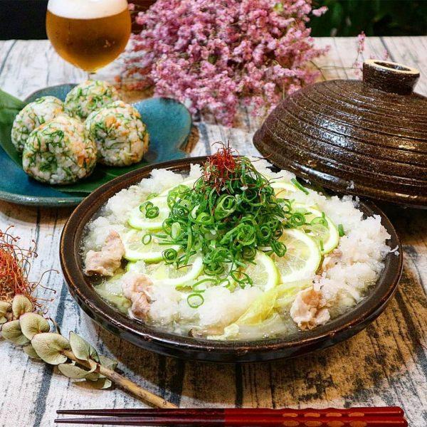 豚肉と白菜のあっさりねぎ塩鍋