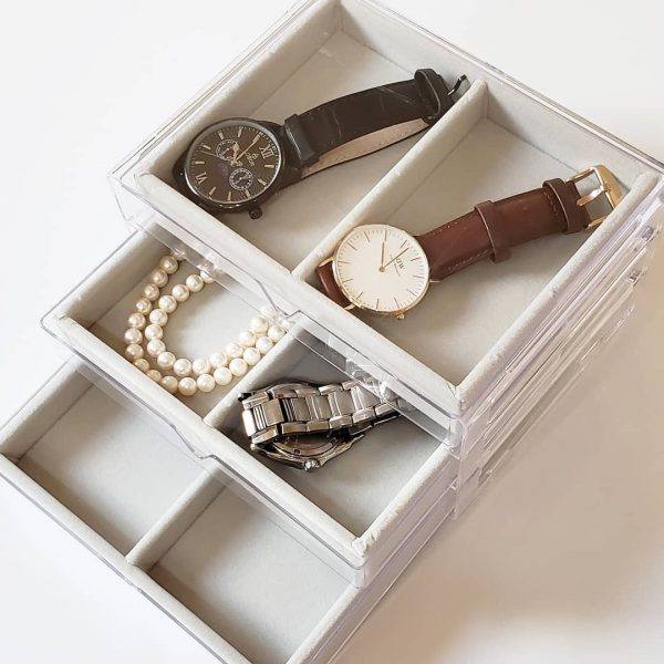 3段引き出しケースの腕時計収納実例