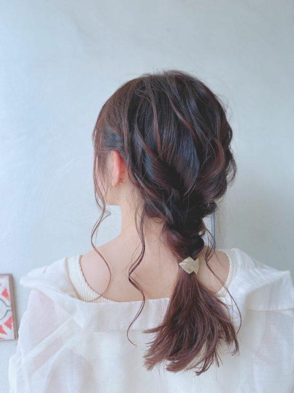 ゆるふわロングの編み込みヘア