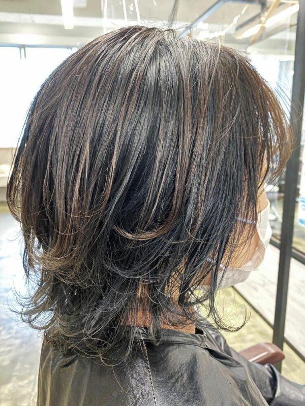 マッシュウルフショート 黒髪3