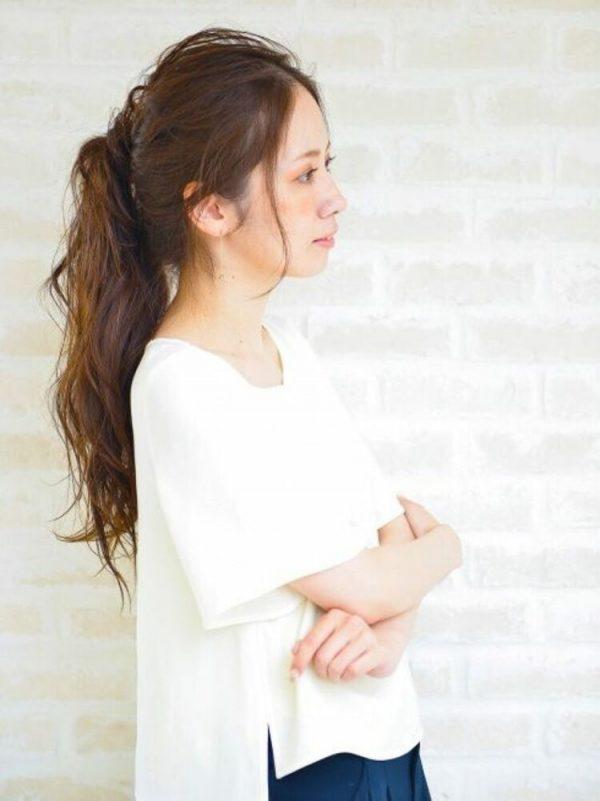 ルーズなまとめ髪アレンジ(前髪なし)