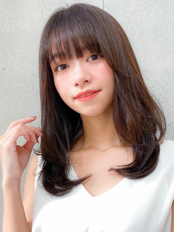 ナチュラル可愛い♡韓国風ミディアムの髪型