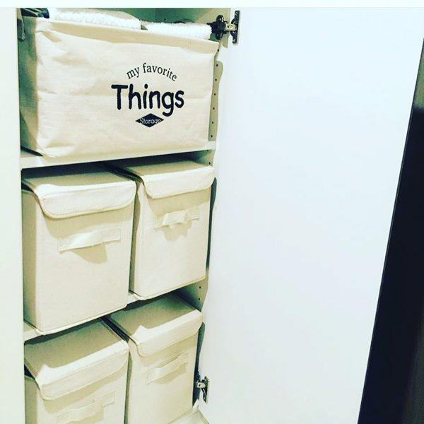 ダイソーのナチュラルな布製収納ボックス