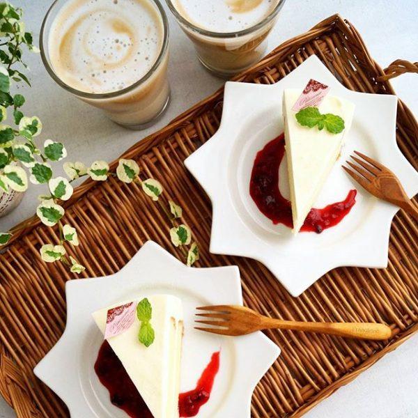 水切りヨーグルトで作るレアチーズケーキ
