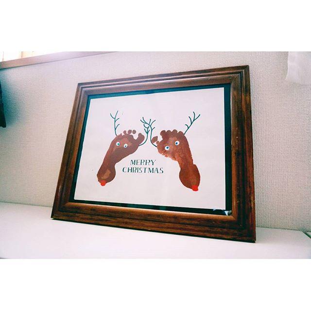 クリスマスアートも手作り