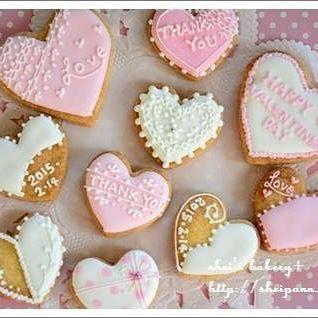 バレンタインに!ハートのアイシングクッキー
