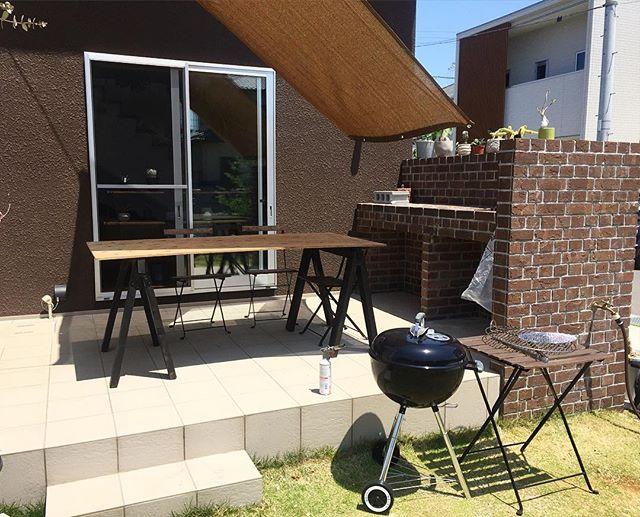 BBQができるデザインのお庭レイアウト