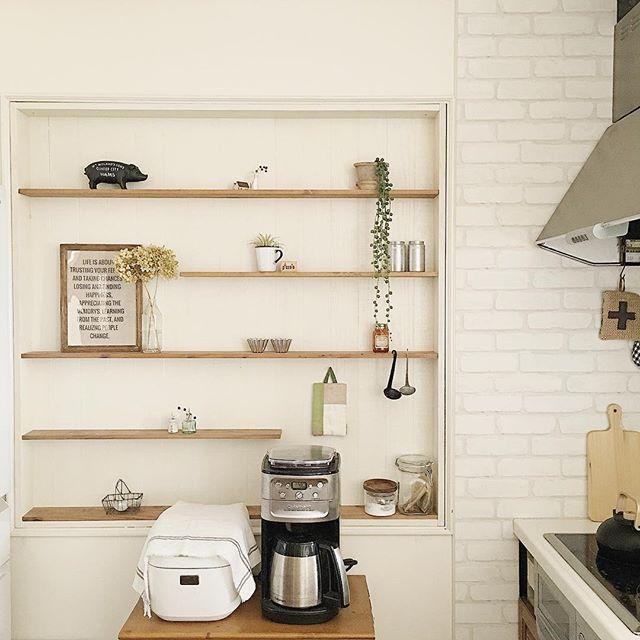 台を設置して炊飯器をレイアウト