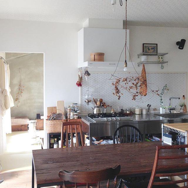 壁付けキッチンのレイアウト11