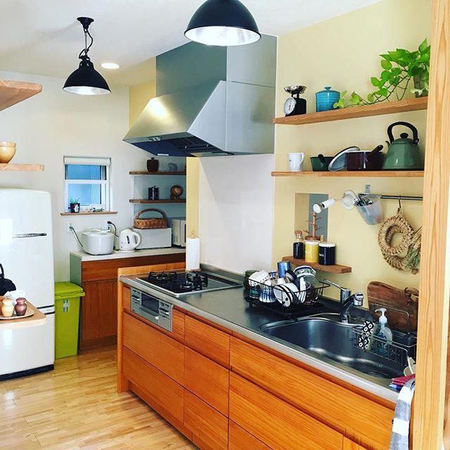 壁付けキッチンのレイアウト15