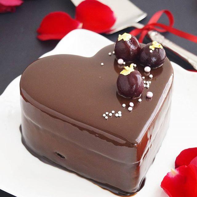 きらりとひかるお菓子♪ハートのムースケーキ