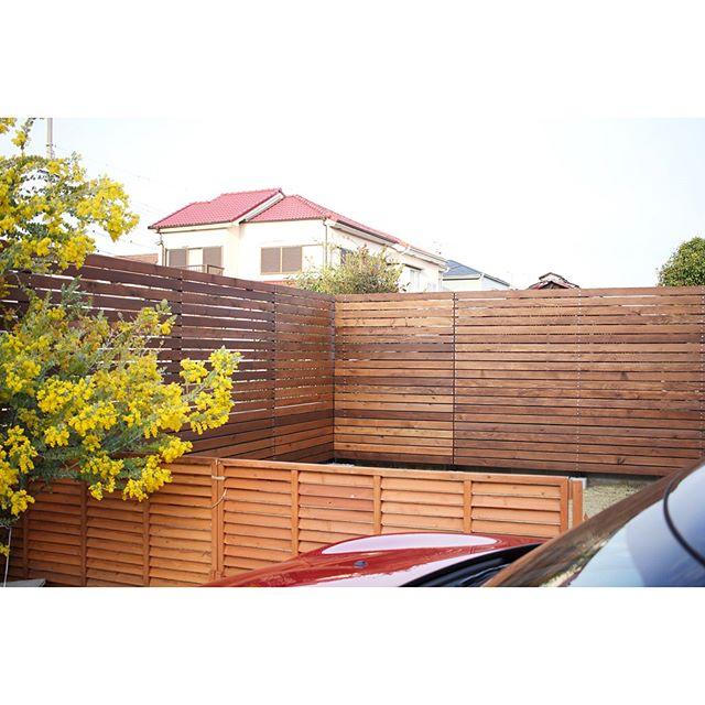 DIYでウッドフェンスのお庭レイアウト