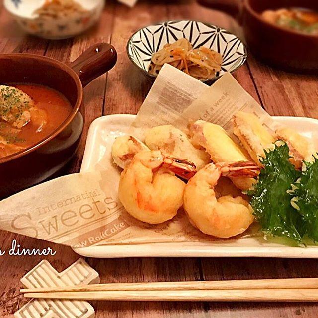 珍しいレシピ!芋天粉天ぷら