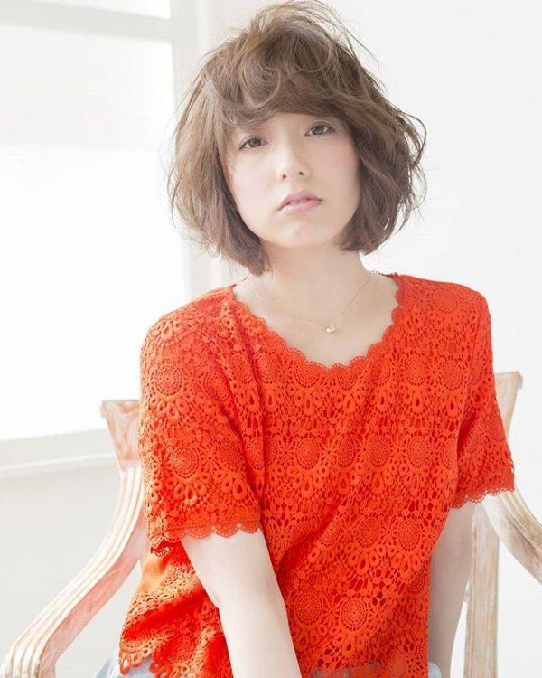 オレンジブラウンヘアカラー 明るめ3
