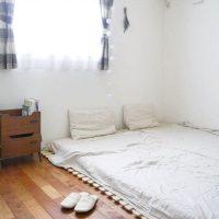 布団派さんに捧ぐ。ベッドなしでもお洒落に見える寝室のインテリア実例