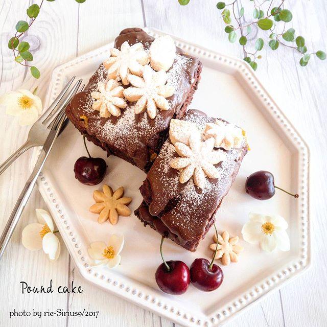 簡単!ダブルチョコのパウンドケーキ