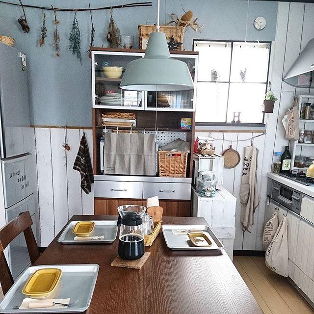 壁付けキッチンのレイアウト12