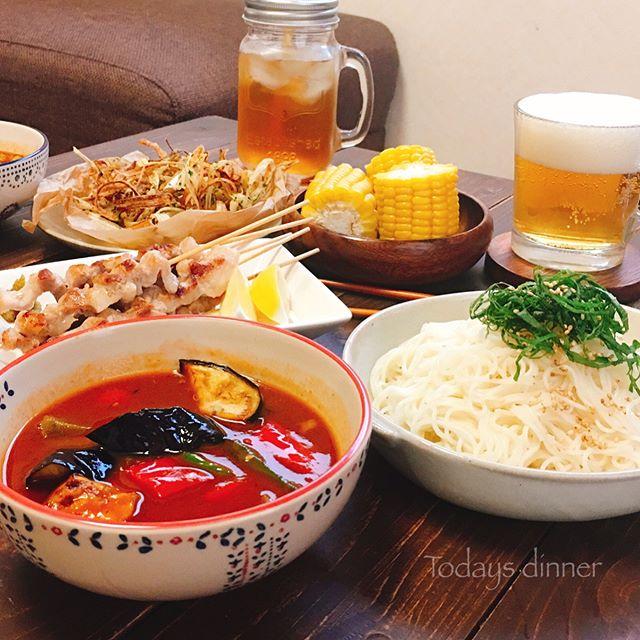 ランチに!野菜を食べるカレーつけ麺