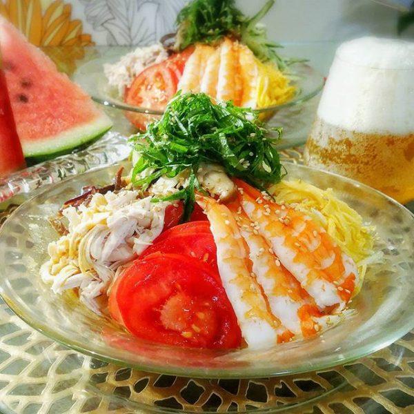 中華麺で定番の美味しい冷やし中華
