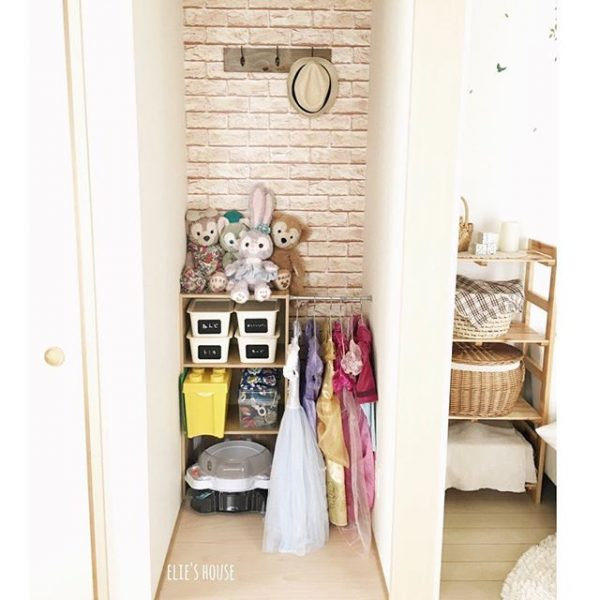 壁紙で可愛い収納スペースDIY