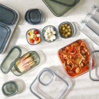 見た目はガラスで機能はガラス以上♪そのまま食卓に出せる「保存容器」