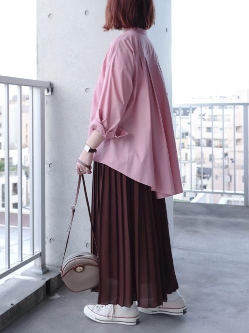 ユニクロブラウンプリーツスカート4