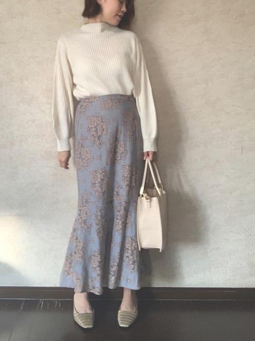 しまむら花柄マーメイドスカート