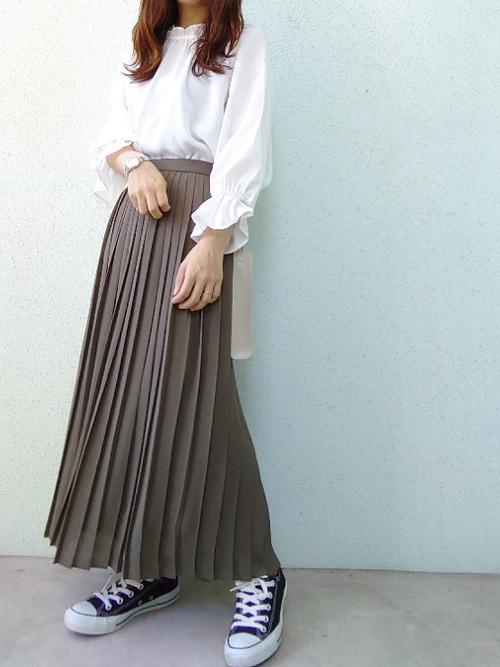 ユニクロブラウンプリーツスカート3
