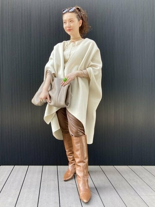 [BEAMS WOMEN] FABIO RUSCONI / カーフ ロング ブーツ