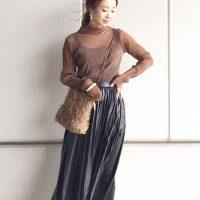 プリーツスカートの冬コーデ【2021】旬の大人のきれいめファッション♪