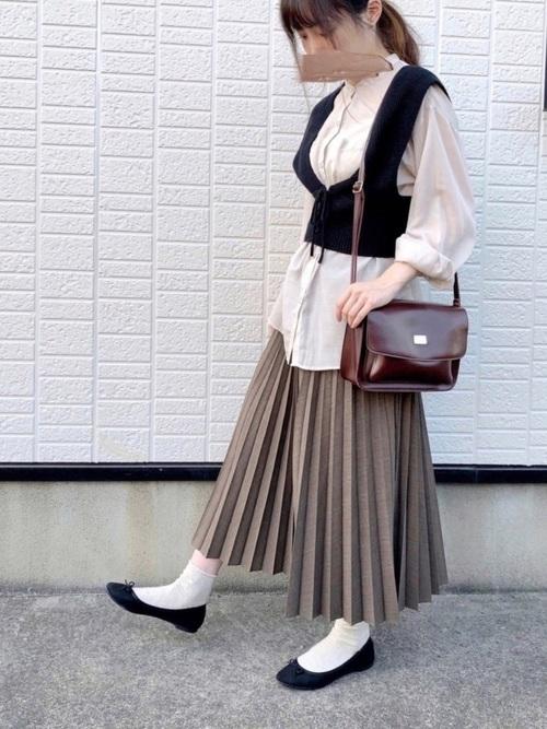 ブラウンスカート3