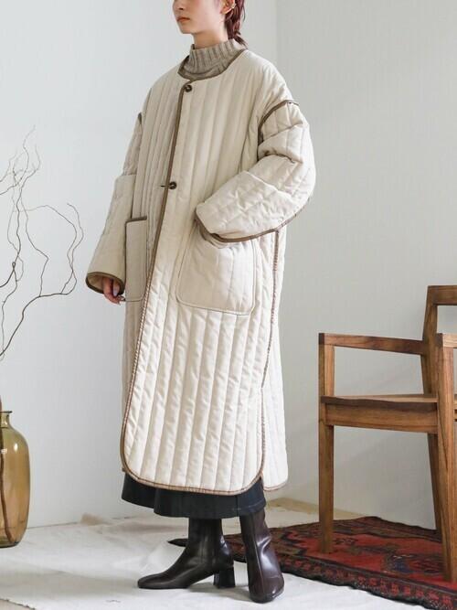 2020 A/W フェイクレザーフロントボタンタイトスカート(エコレザーフロントスナップボタンスカート)