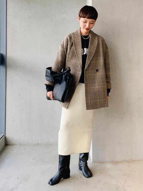 [ADAM ET ROPE'] 【セットアップ対応】変形ベンツニットスカート2