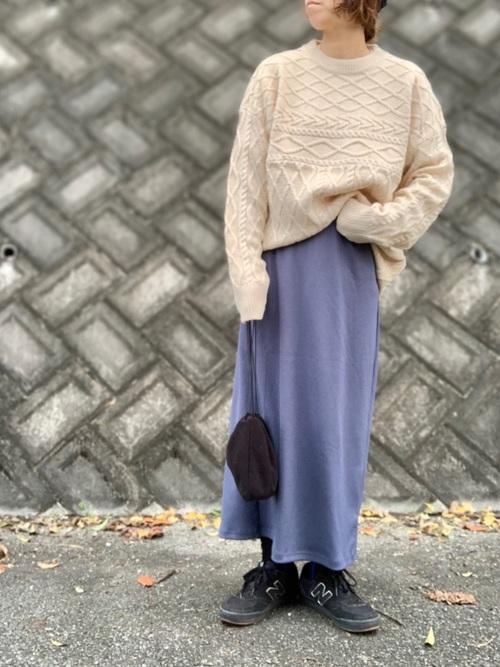 GUのリブナロースカート