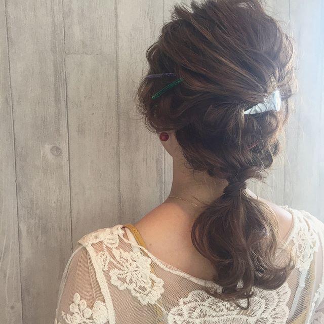 ドレスに似合う髪型14