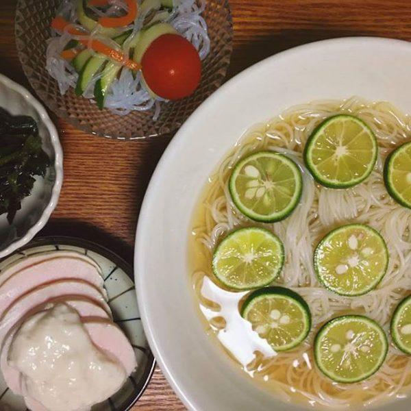 人気のレシピ!アジアン風すだち素麺