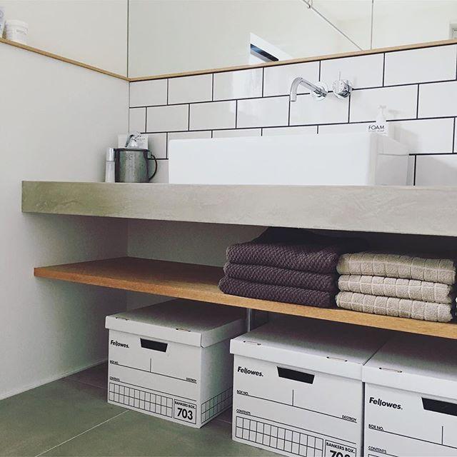 洗面台下のスペースを有効活用