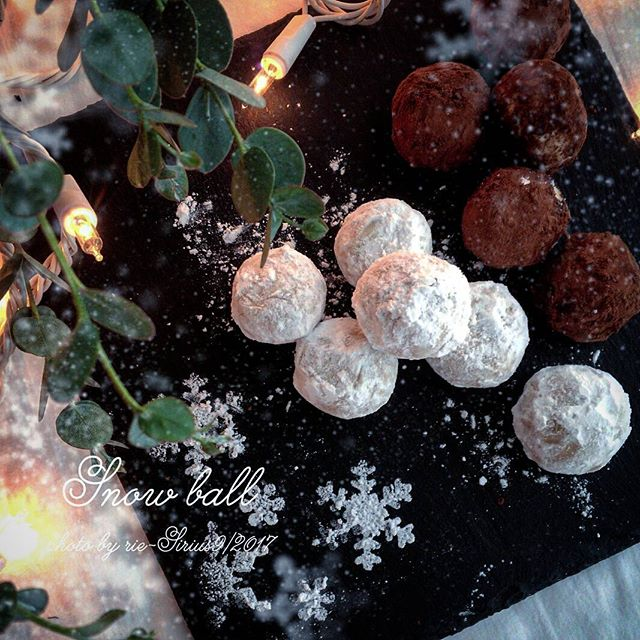 おしゃれな焼き菓子!スノーボールクッキー