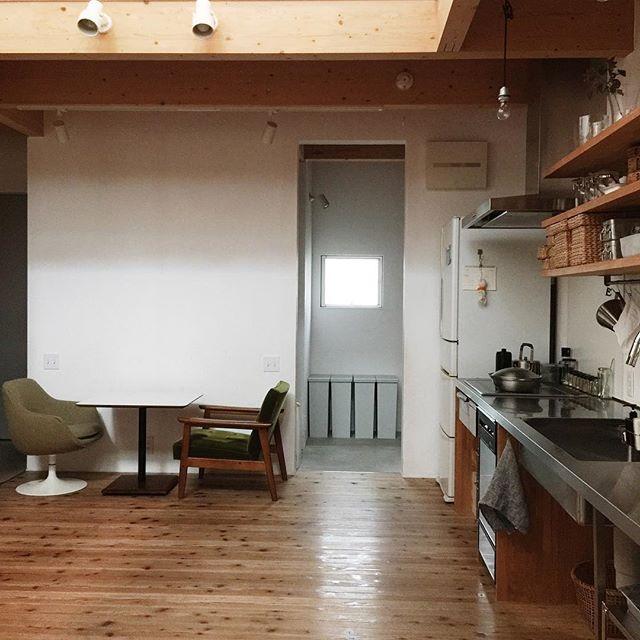 壁付けキッチンのレイアウト9