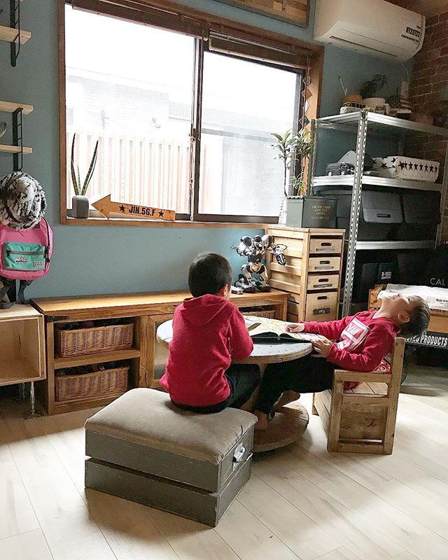 子供部屋を3人で使うレイアウト16