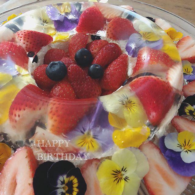 バレンタインは華やかに♪果物と花のババロア