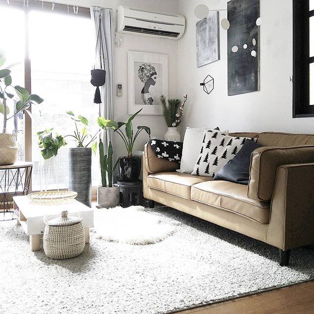 ベージュのソファを使ったインテリア5