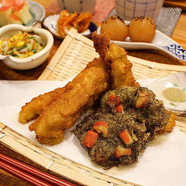 不思議な食感!カニカマともずく天ぷら