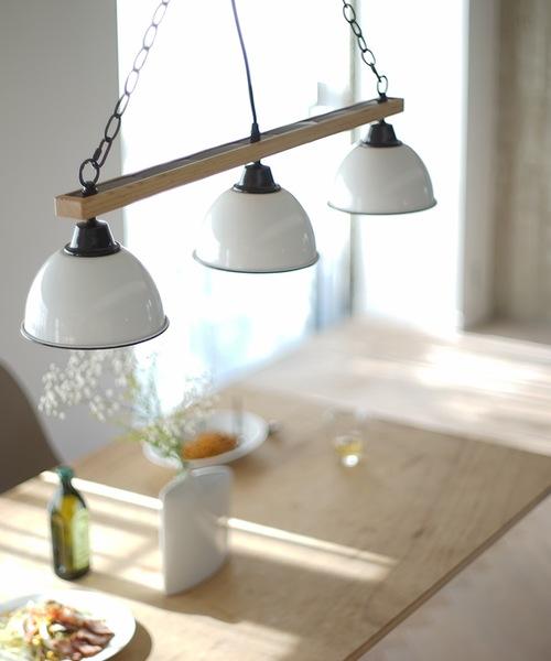 [BRID] ブリッド ジェンダーウッド・ロット 3灯 ペンダントライト リモコン付 照明 / BRID GENDER WOOD ROD 3CEILING LAMP (電球あり)