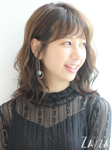 ゆるふわパーマが可愛い♡ミディアムの髪型