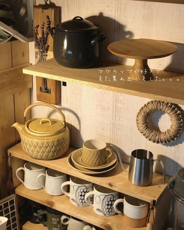 見せる棚で綺麗を保つキッチン
