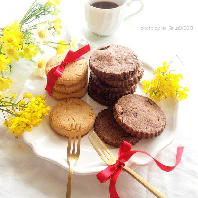 バーベキューに!チョコとプレーンのクッキー