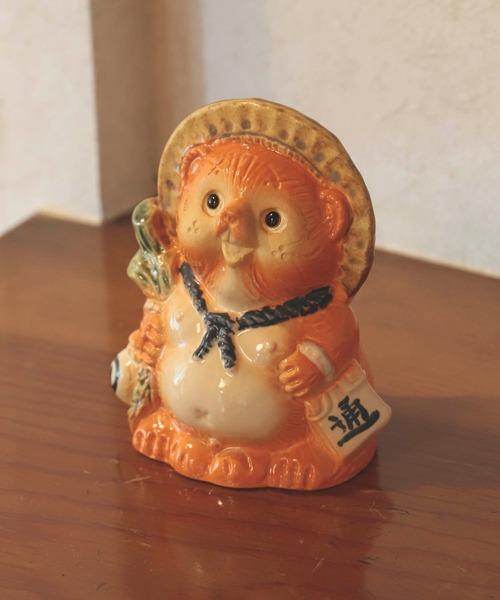 [BEAMS MEN] BEAMS JAPAN / 別注 信楽焼 オレンジ たぬき小